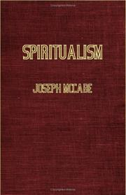 Cover of: Spiritualism | Joseph McCabe