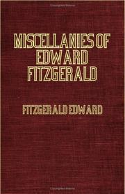 Cover of: Miscellanies Of Edward Fitzgerald | Edward FitzGerald