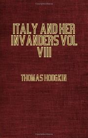 Cover of: Italy And Her Invaders  774-814 - Vol VIII The Frankish Empire