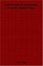 Cover of: A dictionary of quotations from the English poets