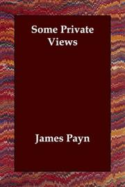 Cover of: Some Private Views