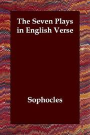 Cover of: The seven plays in English verse