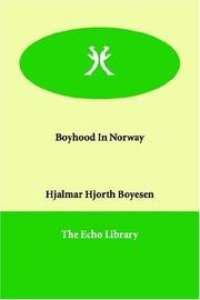 Cover of: Boyhood in Norway