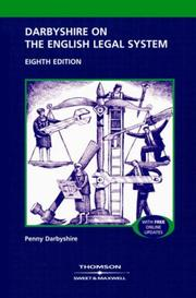 Cover of: Darbyshire on the English Legal System
