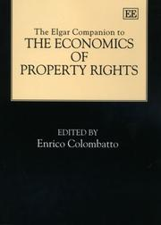Cover of: The Elgar Companion to the Economics of Property Rights | Enrico Colombatto
