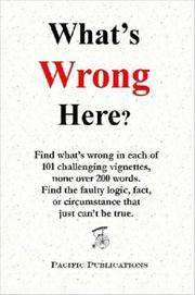 Cover of: What's Wrong Here?