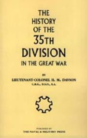 Cover of: HISTORY OF THE 35TH DIVISION IN THE GREAT WAR | H.M Davson