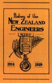 Cover of: OFFICIAL HISTORY OF THE NEW ZEALAND ENGINEERS DURING THE GREAT WAR 1914-1919 | ed Maj N.Annabell