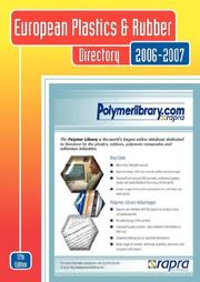 Cover of: European Plastics and Rubber Directory 2006/2007 |