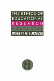 Cover of: The Ethics of educational research