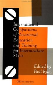 Cover of: International comparisons of vocational education and training for intermediate skills |