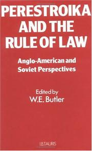 Cover of: Perestroika and the Rule of Law