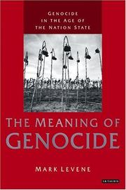 Cover of: Genocide in the Age of the Nation State: Volume 1