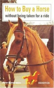 Cover of: How to Buy a Horse Without Being Taken for a Ride | Peter Brown