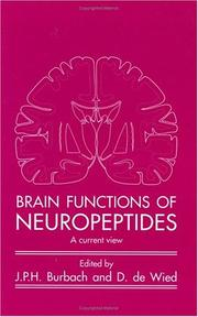 Cover of: Brain functions of neuropeptides |