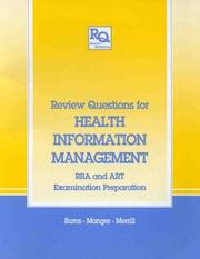 Cover of: Review questions for health information management