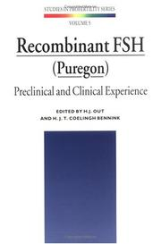 Cover of: Recombinant FSH (Puregon): Preclinical and Clinical Experience (Studies in Profertility Series, V. 5) |