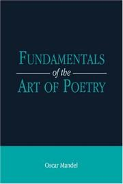 Cover of: Fundamentals of the Art of Poetry | Oscar Mandel