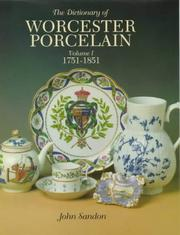 Cover of: The dictionary of Worcester porcelain