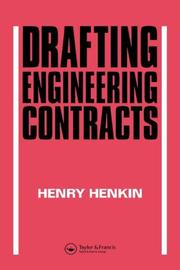 Cover of: Drafting engineering contracts