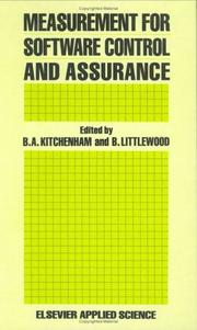 Cover of: Measurement for software control and assurance