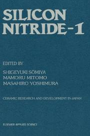Cover of: Silicon Nitride - 1 (Ceramic Research and Development in Japan, Vol. 1) |