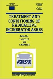 Cover of: Treatment and Conditioning of Radioactive Incinerator Ashes |