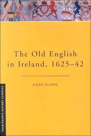 Cover of: The old English in Ireland, 1625-42