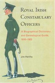 Cover of: Royal Irish Constabulary Officers