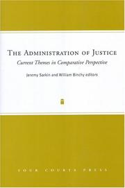 Cover of: The Administration Of Justice |