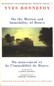 Cover of: On the motion and immobility of Douve =