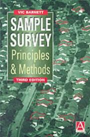 Cover of: Sample survey