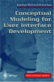 Cover of: Conceptual Modeling for User Interface Development (Practitioner Series (Springer-Verlag).)