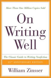 Cover of: On writing well: an informal guide to writing nonfiction