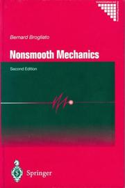 Cover of: Nonsmooth Mechanics | Bernard Brogliato