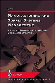 Cover of: Manufacturing and supply systems management