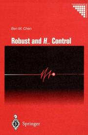 Cover of: Robust and H [infinity] control