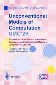 Cover of: Unconventional Models of Computation, UMC