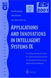 Cover of: Applications and Innovations in Intelligent Systems IX |