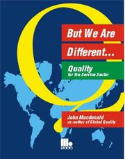 Cover of: But We Are Different