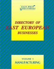 Cover of: Directory of East European Business Volume 1 (Directory of East European Businesses) | Barrie Hopson