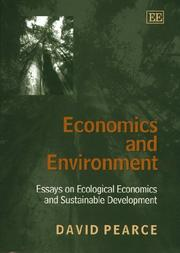 Cover of: Economics and Environment Essays on Ecological Economics and Sustainable Development