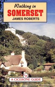 Cover of: Walking in Somerset | Roberts, James