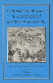 Cover of: City and countryside in late medieval and Renaissance Italy by