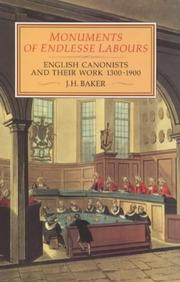Cover of: Monuments of endlesse labours | John Hamilton Baker