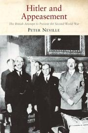 Cover of: Hitler and Appeasement