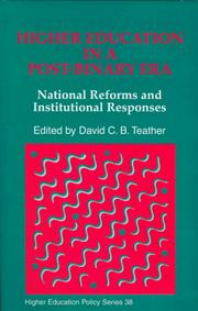 Cover of: Higher Education in a Post-Binary Era | David C. B. Teather