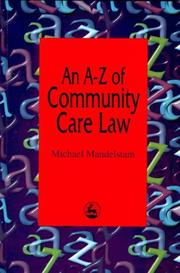 Cover of: An A-Z of community care law