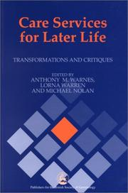Cover of: Care Services for Later Life