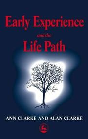 Cover of: Early experience and the life path by